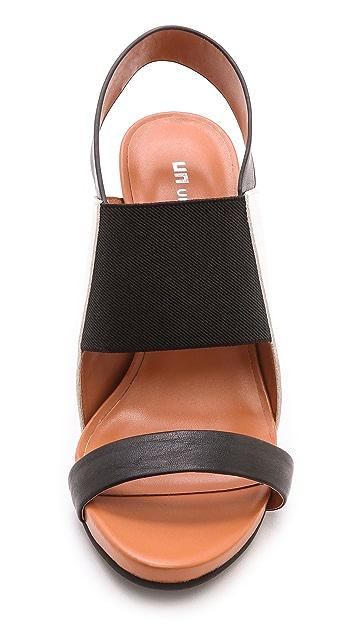 United Nude Sense Colorblock Sling Sandals