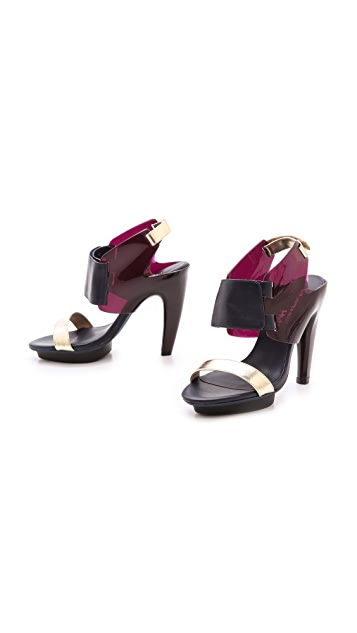 United Nude Eros Curved Heel Sandals