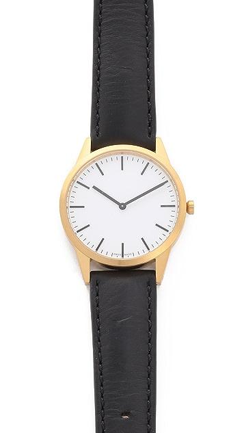 Uniform Wares C35 Satin Gold Watch