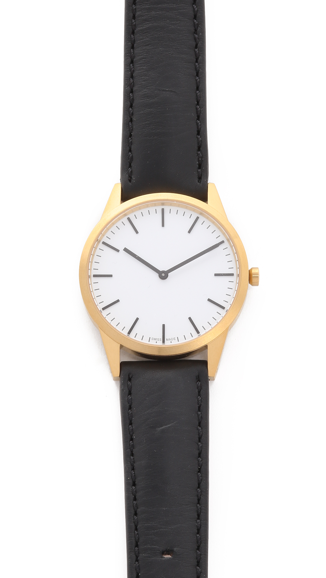 Uniform Wares C35 Satin Gold Watch