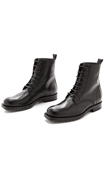 Viktor & Rolf Leather Lace Up Boots