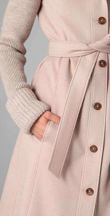 VIKTOR & ROLF Knit Sleeve Trench Coat