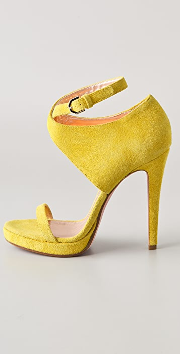VIKTOR & ROLF Suede High Heel Sandals