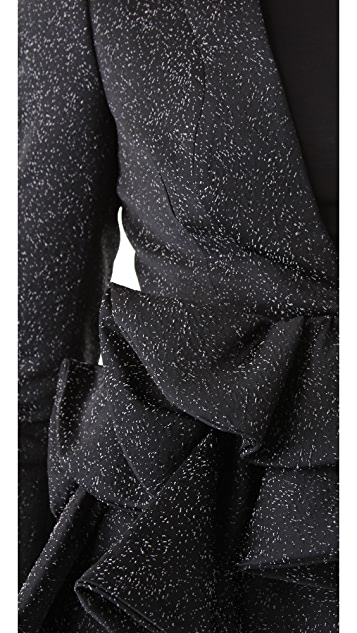VIKTOR & ROLF Jacquard Peplum Jacket