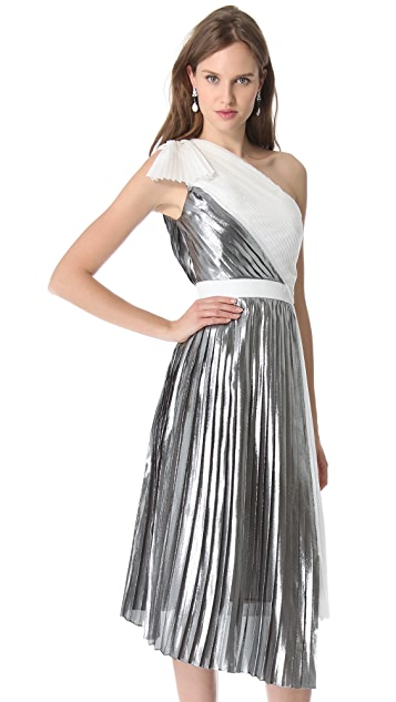 VIKTOR & ROLF One Shoulder Pleated Dress