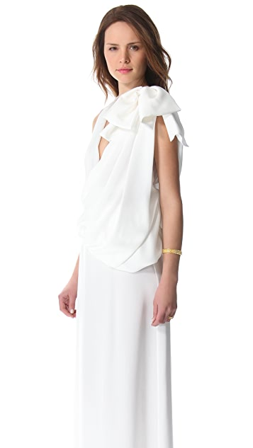 VIKTOR & ROLF Sleeveless Dress with Bow Detail