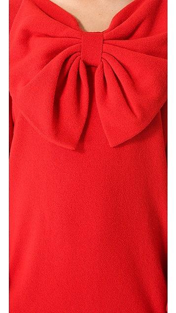 VIKTOR & ROLF Long Sleeve Bow Dress