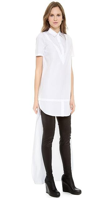 VIKTOR & ROLF Short Sleeve High Low Dress