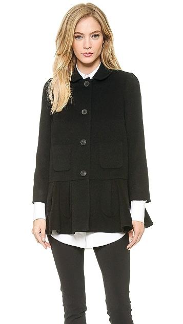 VIKTOR & ROLF Ruffle Wool Coat