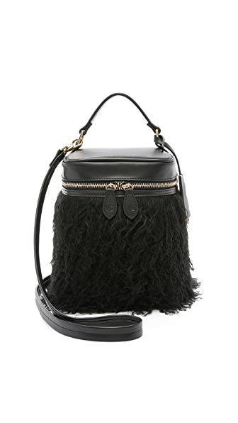 Vasic Collection Shearling Box Shoulder Bag