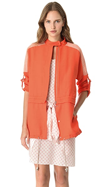 Veronica Beard 2-in-1 Lace Anorak