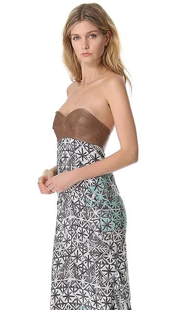 Veronica Beard The Bustier Maxi Dress