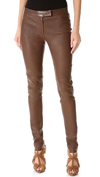 Veronica Beard Stretch Leather Pants