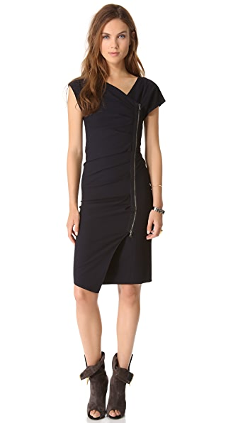 Veronica Beard Short Sleeve Zip Up Dress