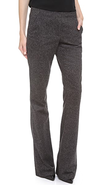 Veronica Beard Flared Wool Pants