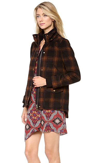 Veronica Beard Fading Plaid Coat