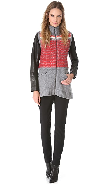 Veronica Beard Multi Wool Coat