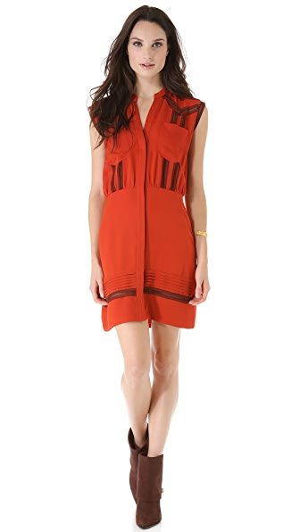 Veronica Beard Sleeveless Shirtdress