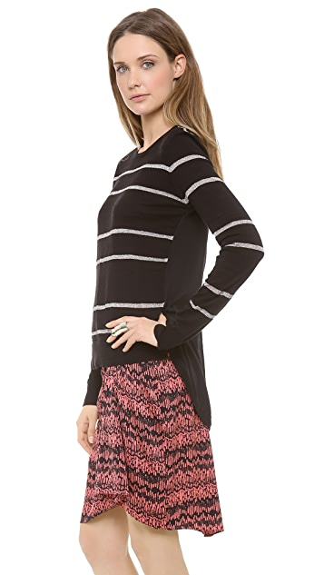 Veronica Beard The Silk Back Pullover