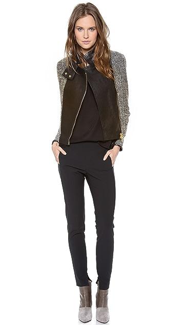 Veronica Beard The Leather Combo Jacket