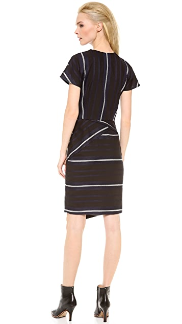 Veronica Beard The Short Sleeve Zip Front Dress
