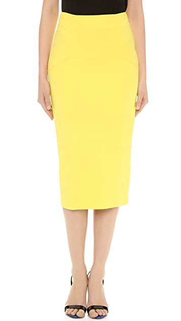 Veronica Beard Cotton Scuba Pencil Skirt