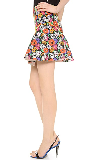 Veronica Beard Hothouse Floral Scuba Skirt