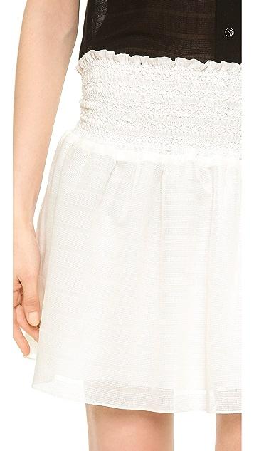 Veronica Beard Smocked Skirt