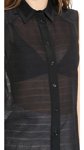 Veronica Beard Sleeveless Silk Combo Top
