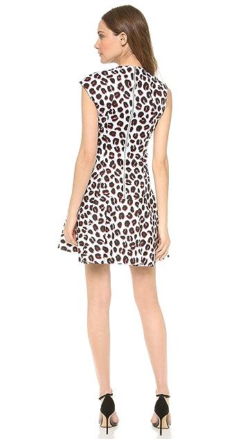 Veronica Beard 3D Leopard Flounce Dress
