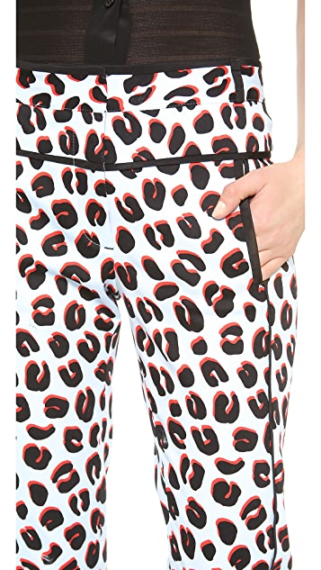 Veronica Beard 3D Leopard Skinny Trousers