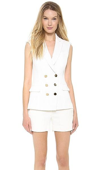 Veronica Beard Textured Suiting DB Vest