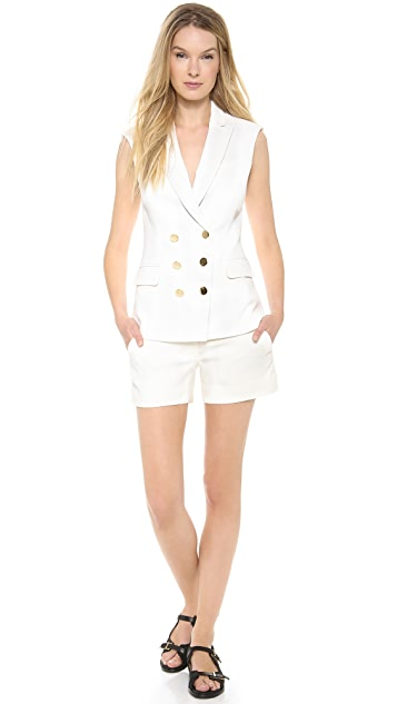 Veronica Beard Textured Suiting DB Vest