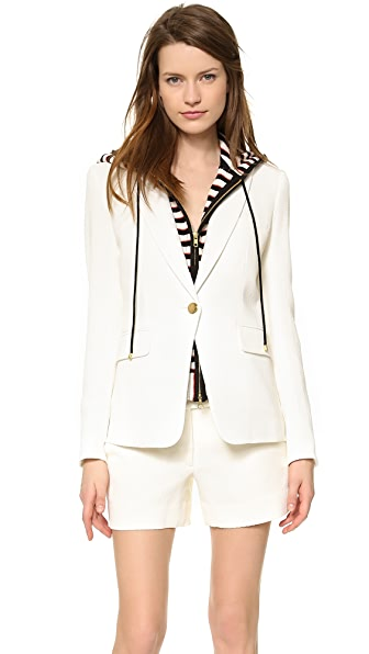 Veronica Beard Textured Suiting Jacket with Hoodie Dickey