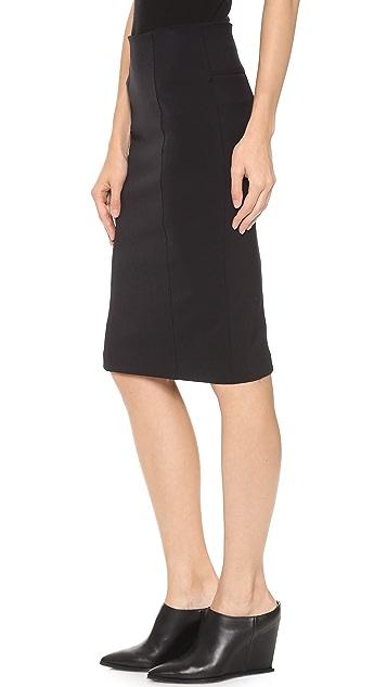 Veronica Beard Scuba Zip Back Pencil Skirt