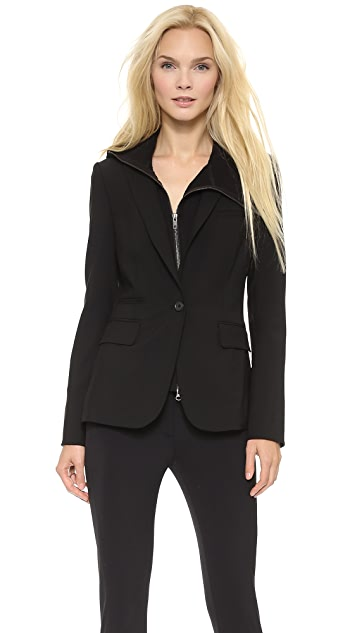 Veronica Beard Black Classic Jacket with Ninja Dickey