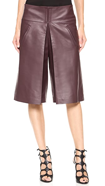 Veronica Beard Leather Gaucho Pants