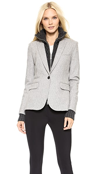 Veronica Beard Wool Jacket with Upstate Dickey