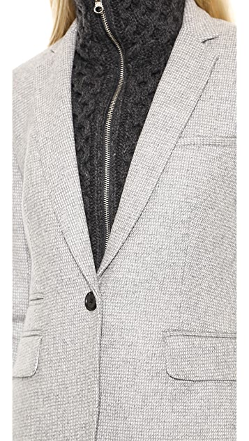 Veronica Beard Wool Jacket with Upstate Dickey