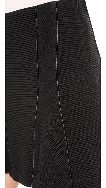 Veronica Beard Ottoman Knit Flounce Skirt