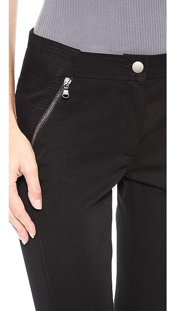 Veronica Beard Bi-Stretch Seamed Moto Pants