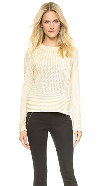 Veronica Beard Cable Knit Fisherman Sweater