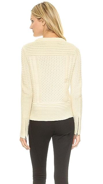 Veronica Beard Cable Knit Fisherman Sweater