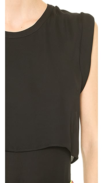 Veronica Beard Silk Muscle Tee
