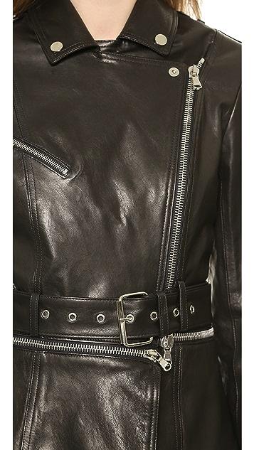 Veronica Beard Zip Off Moto Jacket