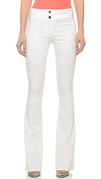 Veronica Beard Stretch Denim Flare Leg Jeans - White