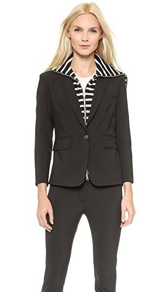 Veronica Beard Schoolboy Jacket with Stripe Dickey