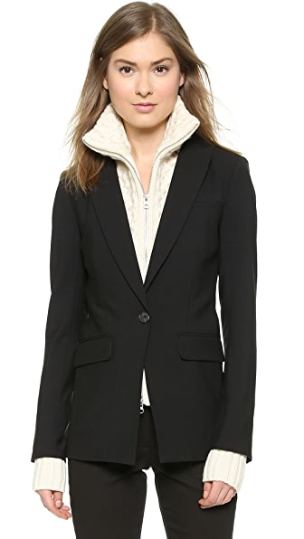 Veronica Beard Long & Lean Jacket with Upstate Dickey