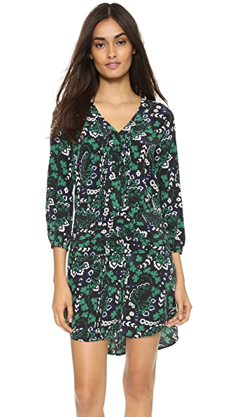 Shop Veronica Beard online and buy Veronica Beard Elm Shirtdress Victorian Vine Print dresses online