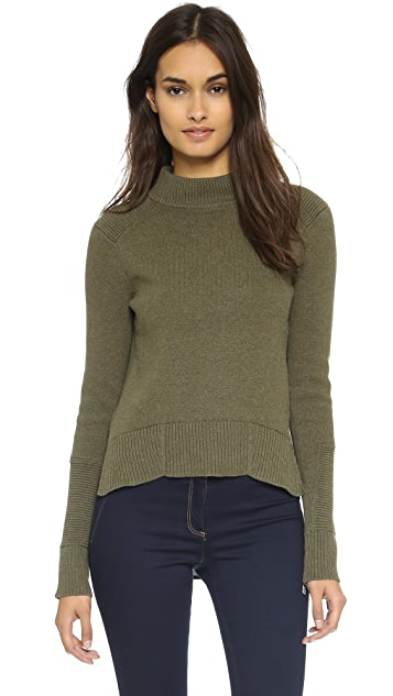 Veronica Beard Funnel Neck Sweater